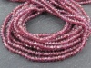 Rhodolite Garnet Faceted Rondelles 3-3.25mm ~ 13'' Strand