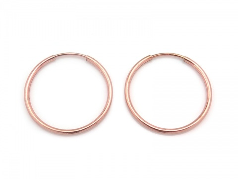 Rose Gold Filled Earring Hoop 20mm ~ PAIR