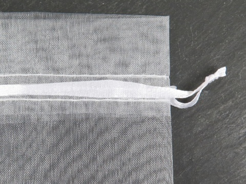Organza Bag 8cm x 10cm ~ White ~ Pack of 10