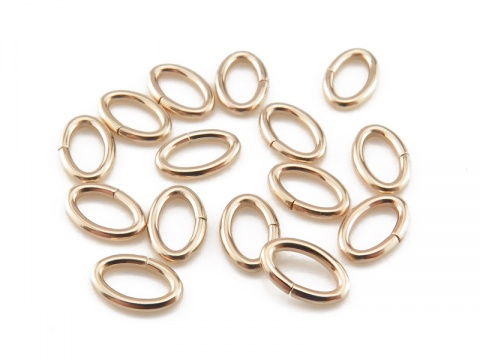 Gold Filled Oval Open Jump Ring 5.5mm ~ 20ga ~ Pack of 10