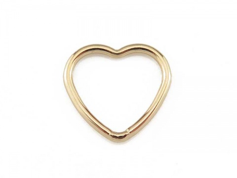 Gold Filled Heart Connector 10mm