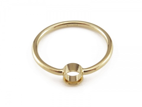Gold Filled Bezel Ring 4mm ~ Size J