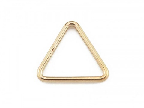 Gold Filled Closed Triangle Component 10mm