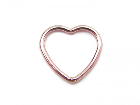 Rose Gold Filled Heart Connector 10mm