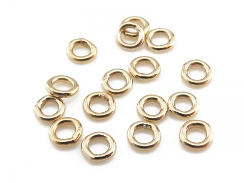 Gold Filled Closed Jump Ring 3mm ~ 22ga ~ Pack of 10