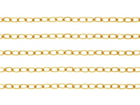 Gold Filled Flat Cable Chain 1.8mm x 1.3mm ~ Offcuts
