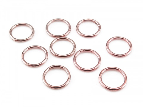 Rose Gold Filled Closed Jump Ring 6mm ~ 22ga ~ Pack of 10