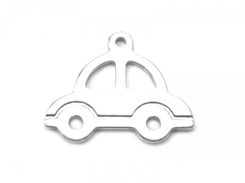 Sterling Silver Car Pendant 13mm