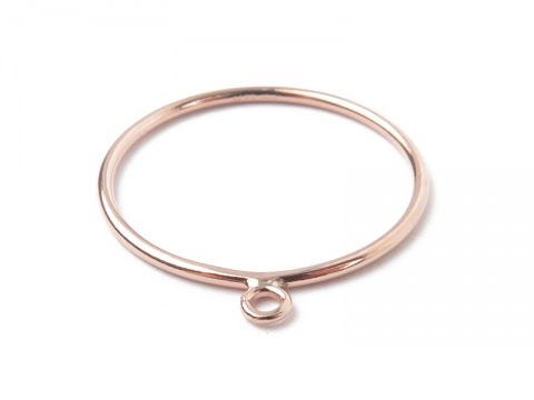 Rose Gold Filled Stacking Ring w/Open Jump Ring ~ Size J