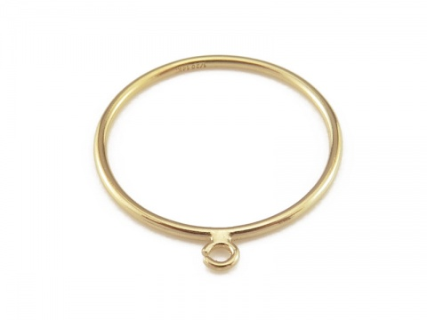 Gold Filled Stacking Ring w/Open Jump Ring ~ Size L