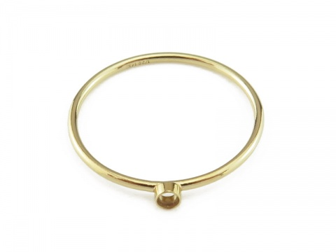 Gold Filled Bezel Ring 2mm ~ Size J