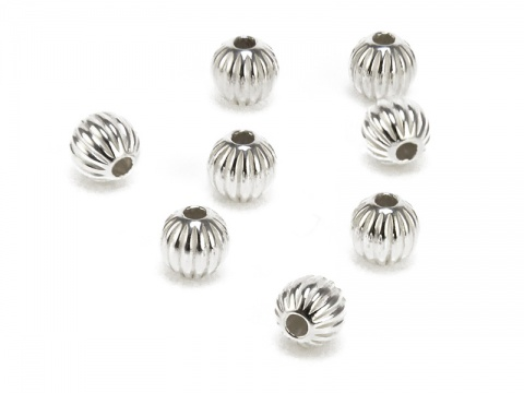 Sterling Silver Corrugated Bead 5mm