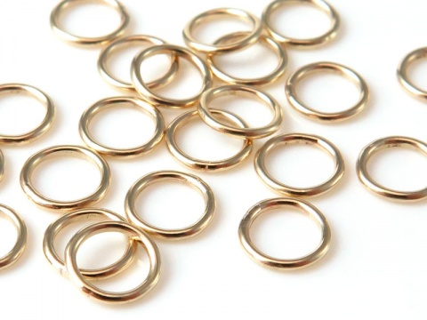14K Gold Closed Jump Ring 5mm ~ 22g