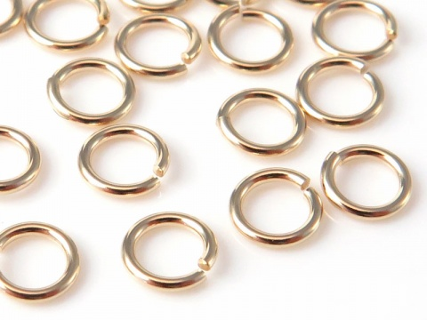 14K Gold Open Jump Ring 4mm ~ 22g