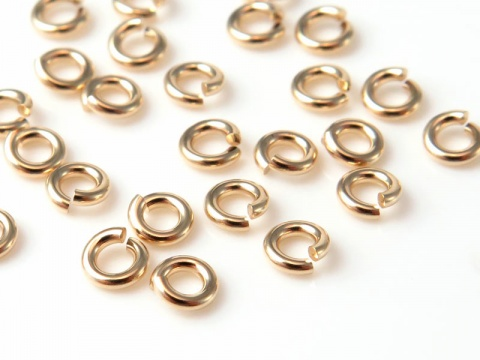 14K Gold Open Jump Ring 3mm ~ 20g