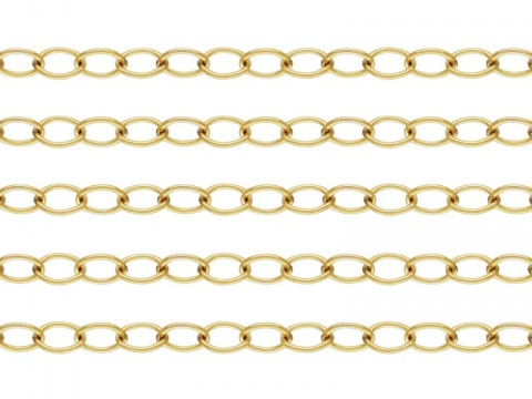 Gold Filled Cable Chain 5mm x 3.7mm ~ Offcuts