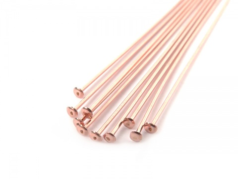 Rose Gold Filled Head Pin ~ 26 gauge ~ 1'' ~ Pack of 10