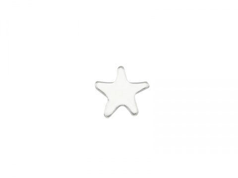 Sterling Silver Star Solderable Accent 5.25mm