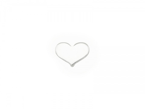 Sterling Silver Heart Solderable Accent 5mm