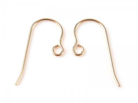 14K Gold Ear Wire ~ PAIR