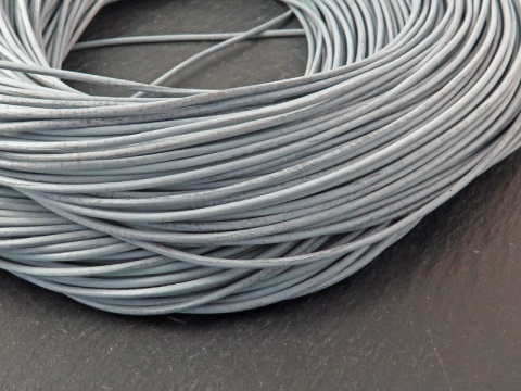 Leather ~ Grey ~ 1.3mm ~ 1 metre