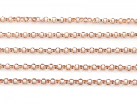 Rose Gold Filled Rolo Chain 1.2mm ~ Offcuts