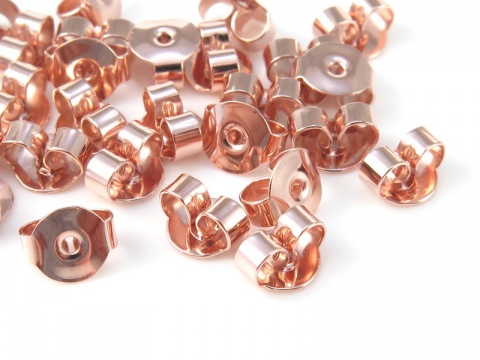Rose Gold Vermeil Ear Scroll/Butterfly/Back 5mm