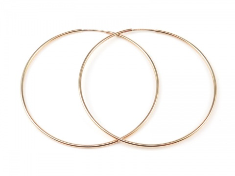 Gold Filled Earring Hoop 50mm ~ PAIR
