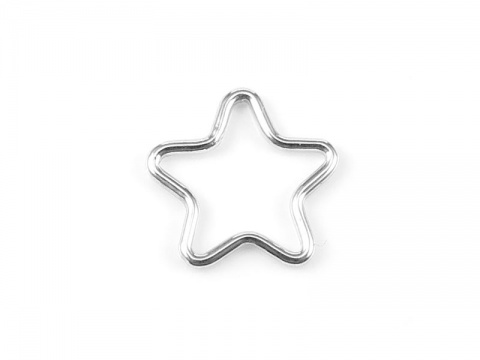 Sterling Silver Star Connector 11mm