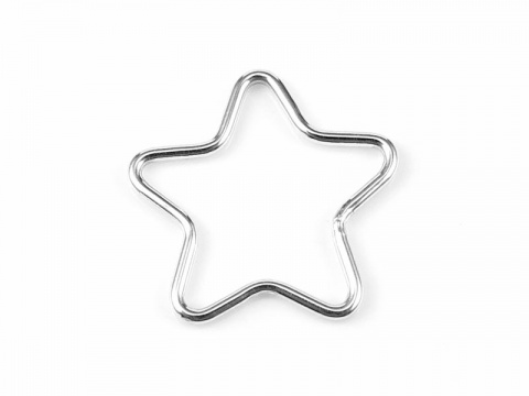 Sterling Silver Star Connector 15mm