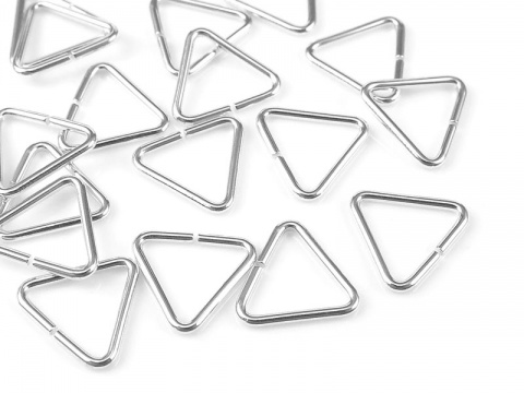 Sterling Silver Open Triangle Component 7.5mm ~ Pack of 10