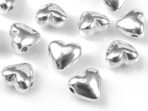 Sterling Silver Heart Bead 5mm