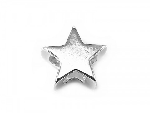Sterling Silver Star Bead 10mm