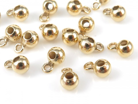 Gold Filled Bead with Ring 3mm