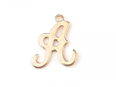 Gold Filled Alphabet Charm 12mm ~ A