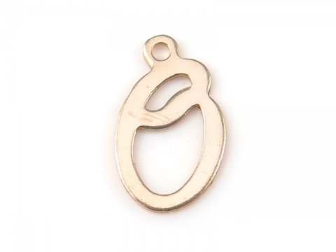 Gold Filled Alphabet Charm 12mm ~ O