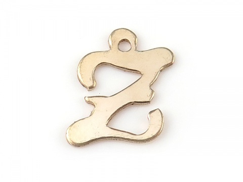 Gold Filled Alphabet Charm 11mm ~ Z