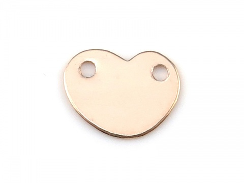 Gold Filled Heart Connector 7mm