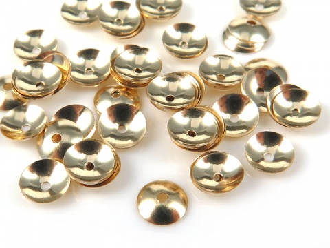 Gold Filled Plain Bead Cap 4mm