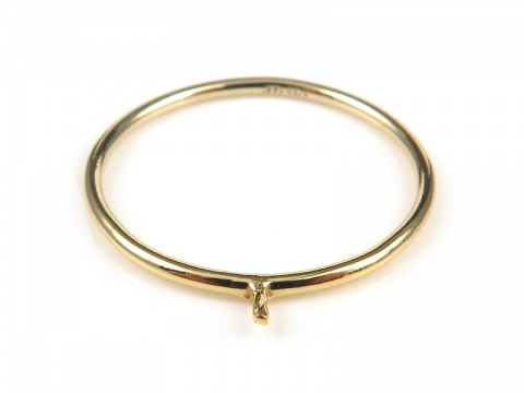 Gold Filled Stacking Ring with Peg ~ Size J