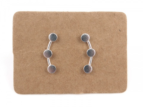 Sterling Silver Circle Ear Creeper Studs ~ PAIR