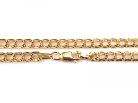 Gold Filled Double Curb Chain Bracelet ~ 7.25''