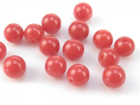 Red Coral Round Bead ~ SINGLE ~ Various Sizes