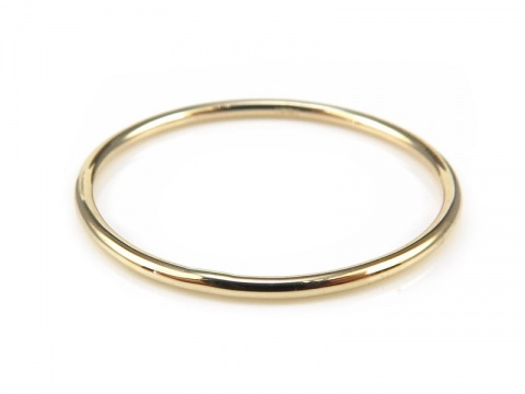 14K Gold Stacking Ring ~ Size N