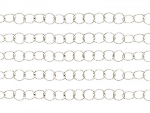 Sterling Silver Round Link Chain 3.5mm  ~ Offcuts