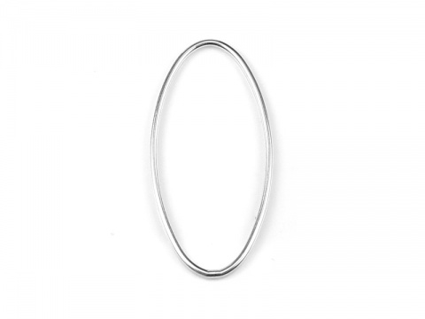 Sterling Silver Oval Connector 30mm