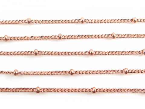 Rose Gold Filled Satellite Chain 1.5 x 1.2mm (16mm ball spacing)  ~ Offcuts