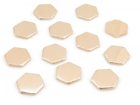 Gold Filled Hexagon Solderable Accent 6mm