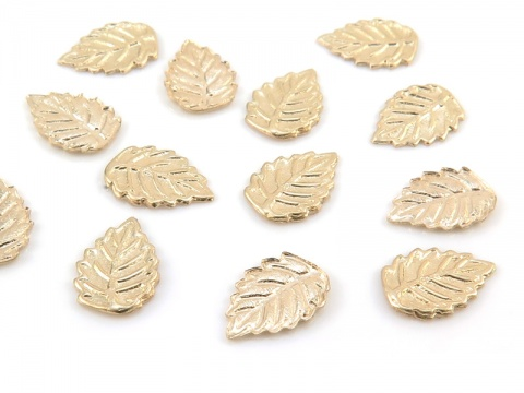 Gold Filled Leaf Solderable Accent 7.25mm