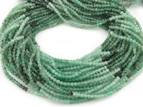 Emerald Shaded Rondelle Beads 2mm ~ 12.5'' Strand